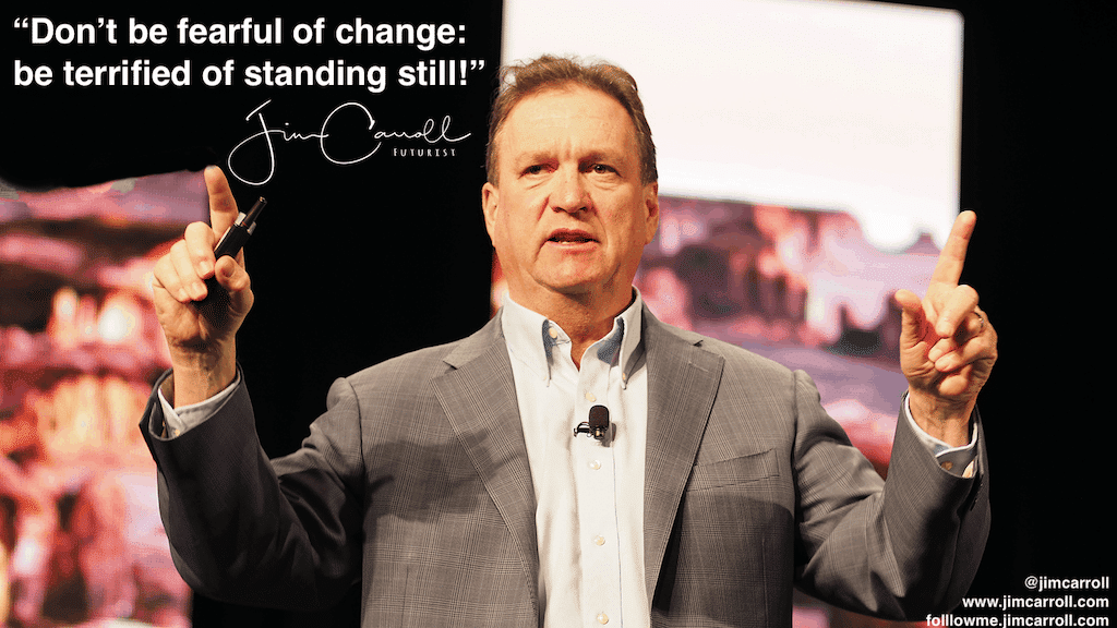 "Daily Inspiration: ""Don't be fearful of change: be terrified of standing still!"""