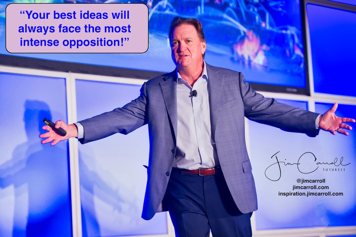 "Daily Inspiration: ""Your best ideas will always face the most intense opposition!"""