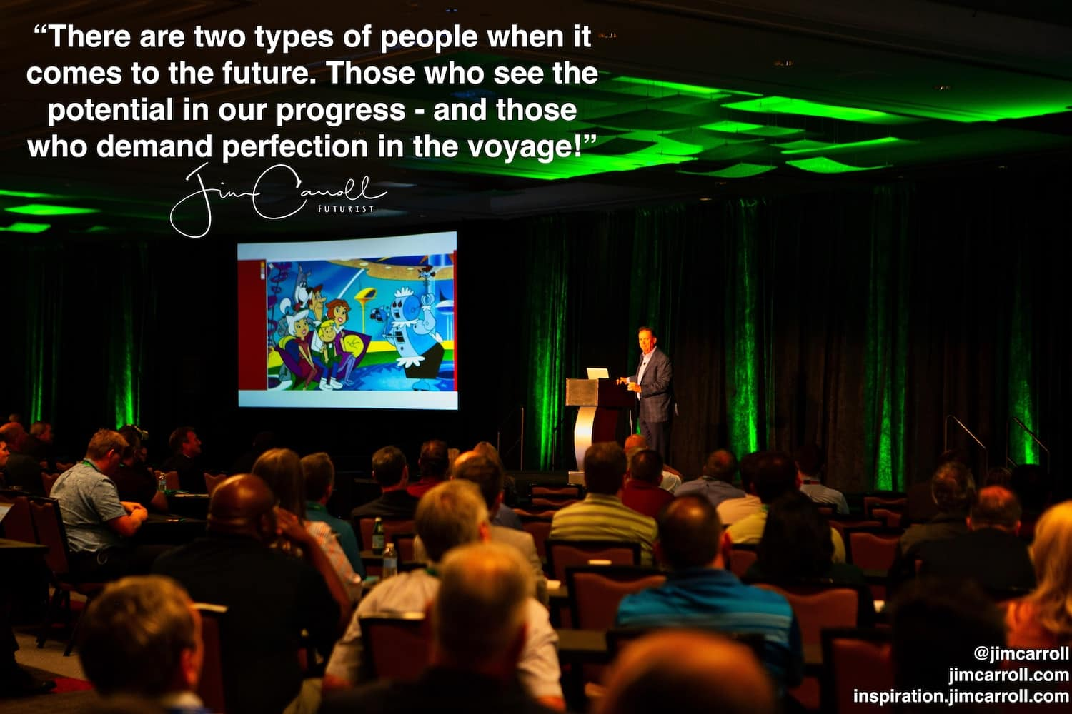 "Daily Inspiration: ""There are two types of people when it comes to the future. Those who see the potential in our progress - and those who demand perfection in the voyage!"""