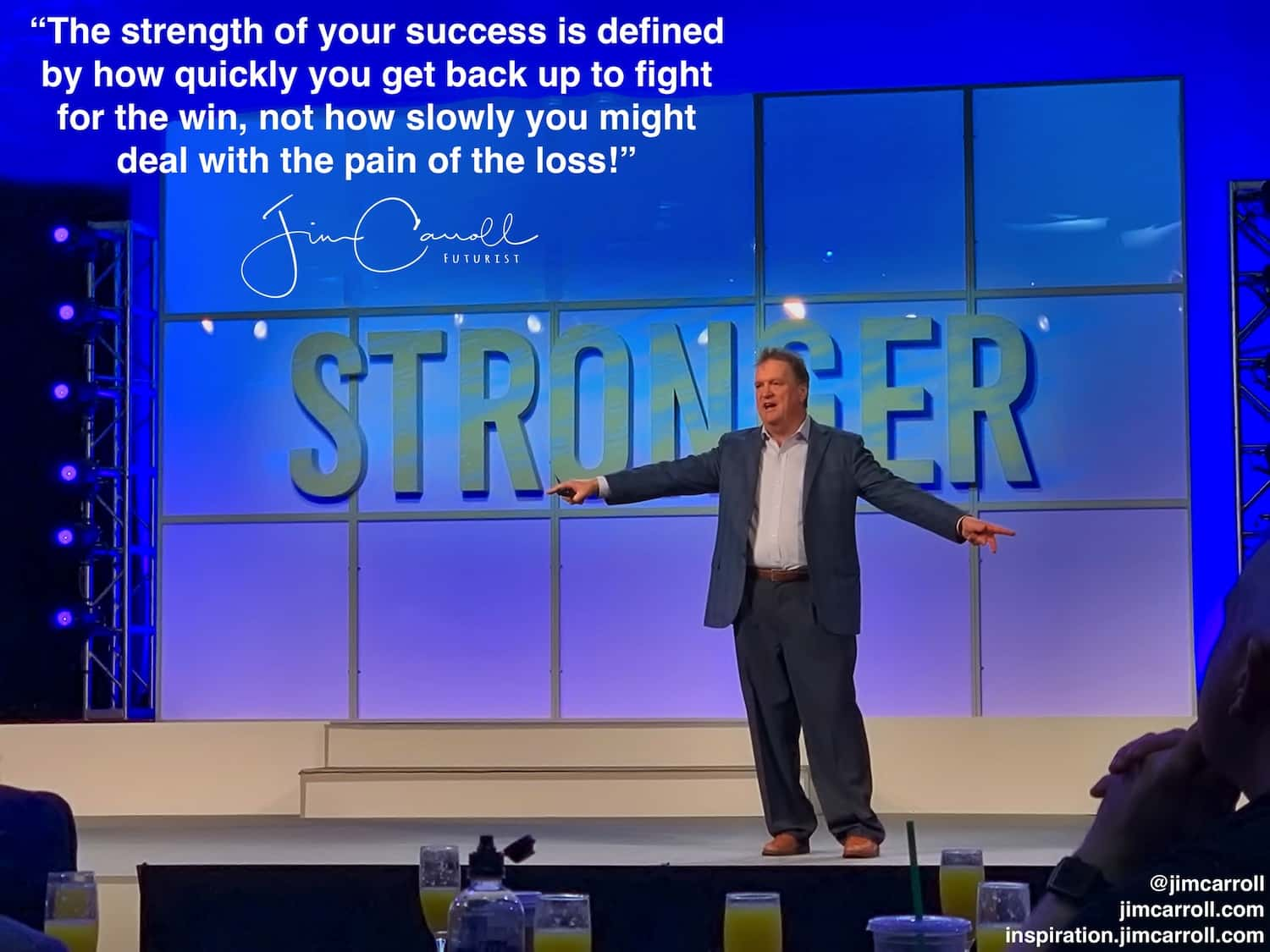 "Daily Inspiration: ""The strength of your success is defined by how quickly you get back up to fight for the win, not how slowly you might deal with the pain of the loss!"""