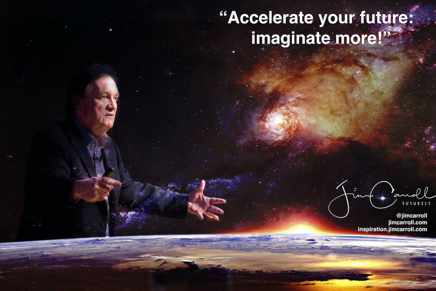 "Daily Inspiration: ""Accelerate your future: imaginate more!"""