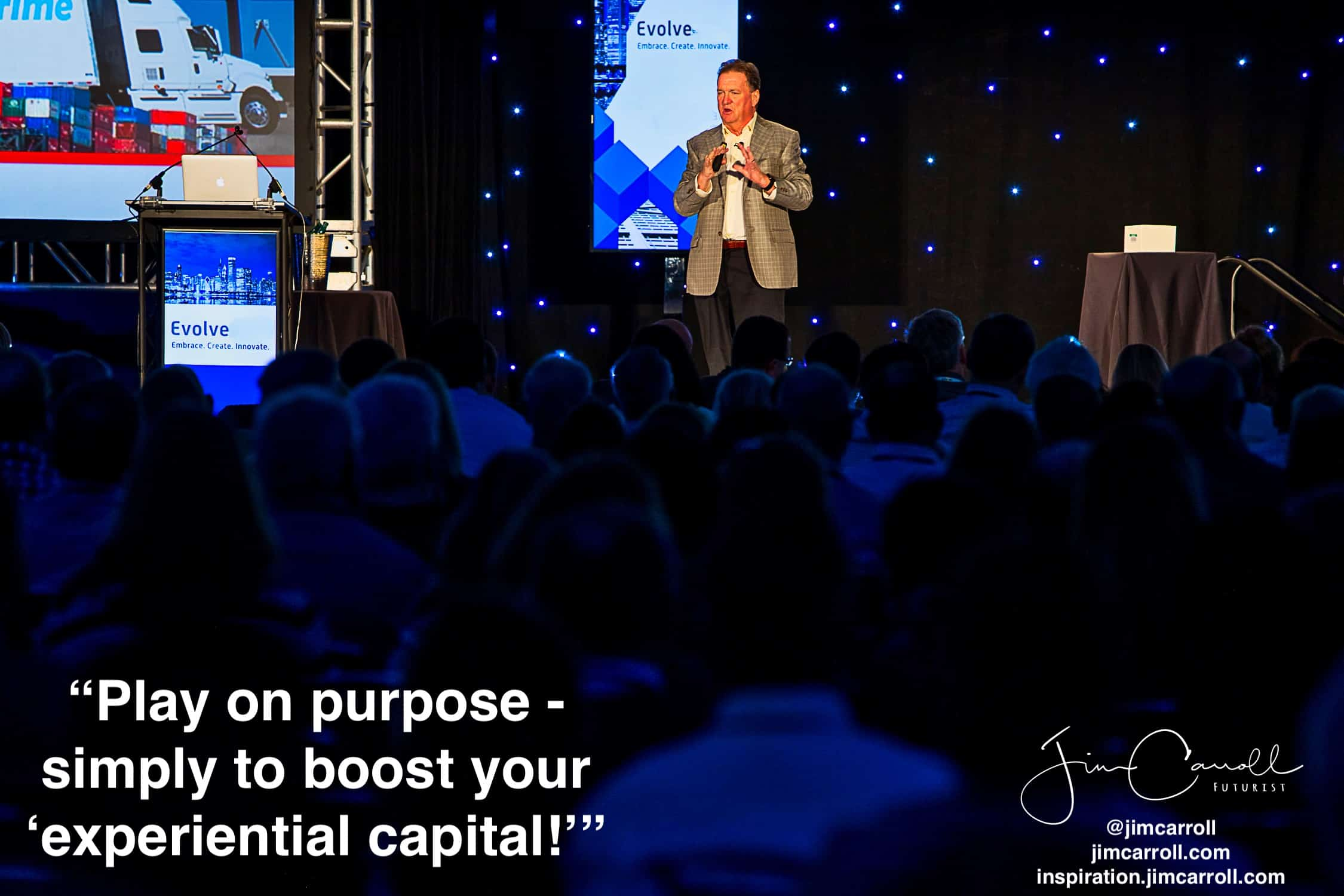 "Daily Inspiration: ""Play on purpose - simply to boost your 'experiential capital!'"""