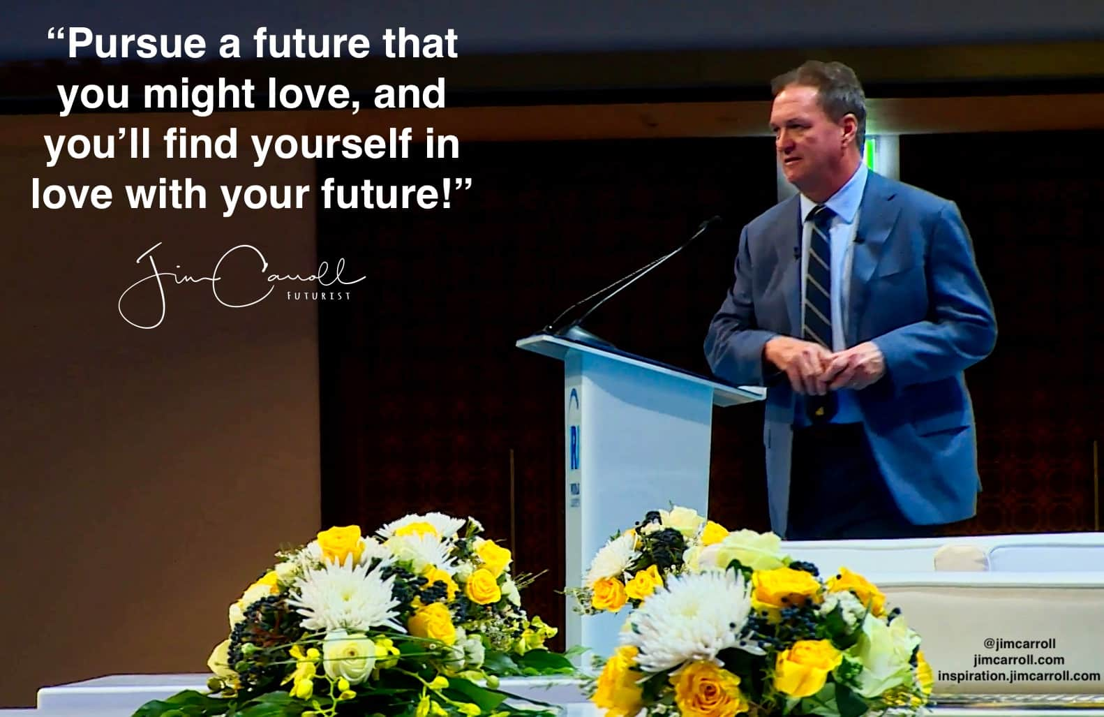 "Daily Inspiration: ""Pursue a future that you might love, and you'll find yourself in love with your future!"""