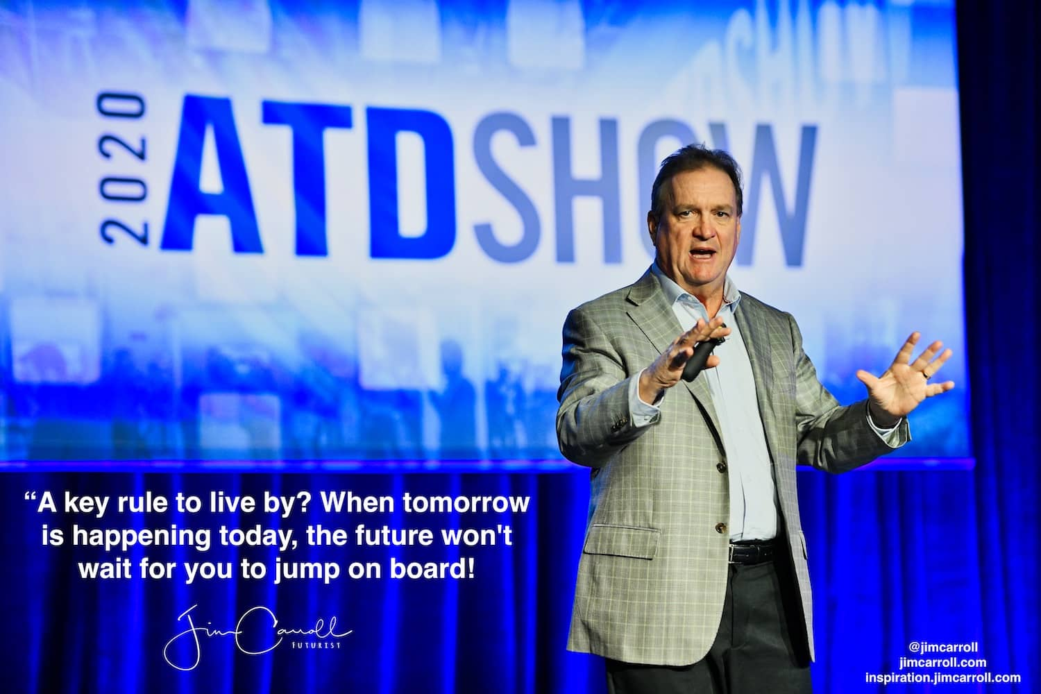 "Daily Inspiration: ""A key rule to live by? When tomorrow is happening today, the future won't wait for you to jump on board!"""