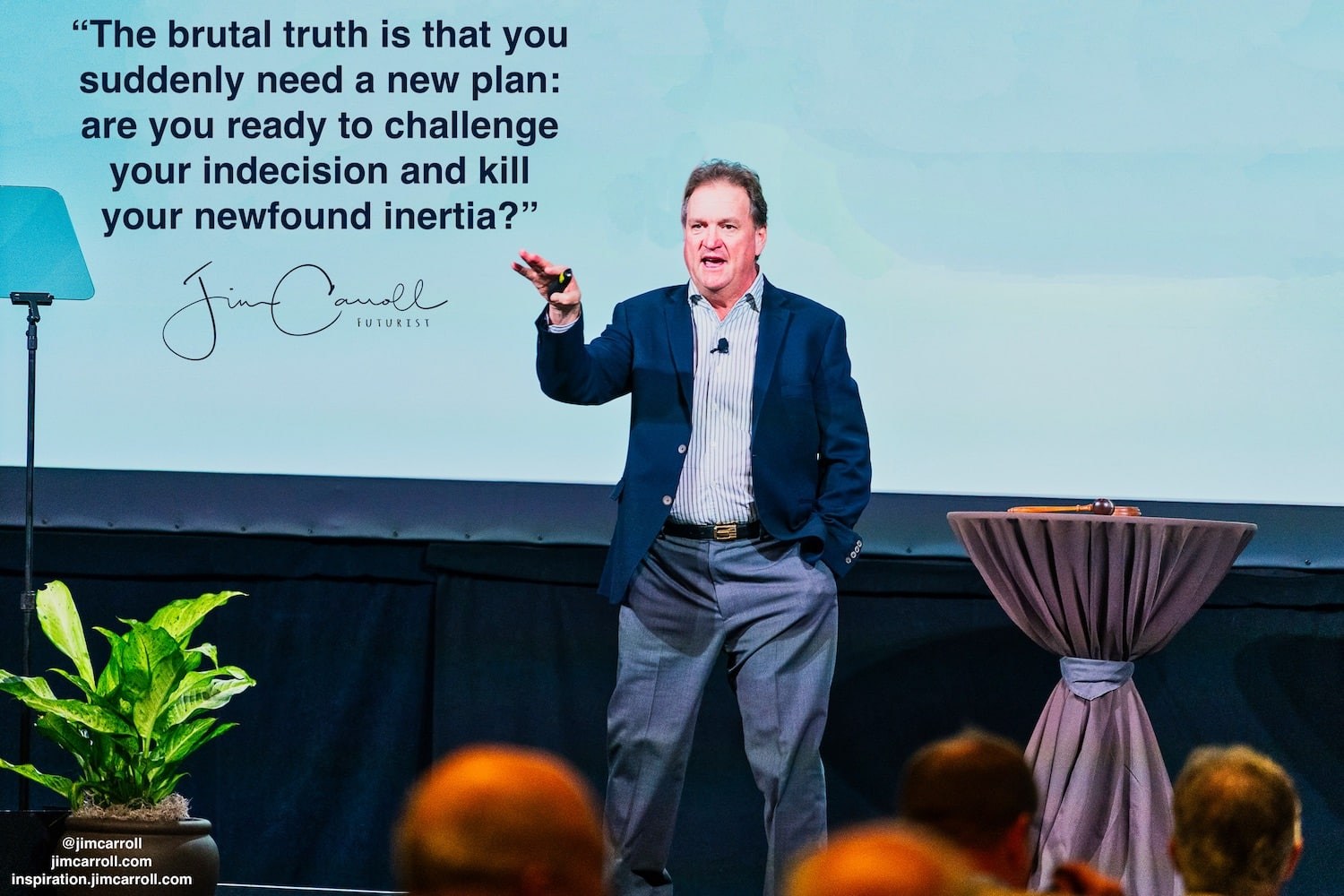 "Daily Inspiration: ""The brutal truth is that you now need a new plan: are you already ready to challenge your indecision and kill your sudden inertia?"""