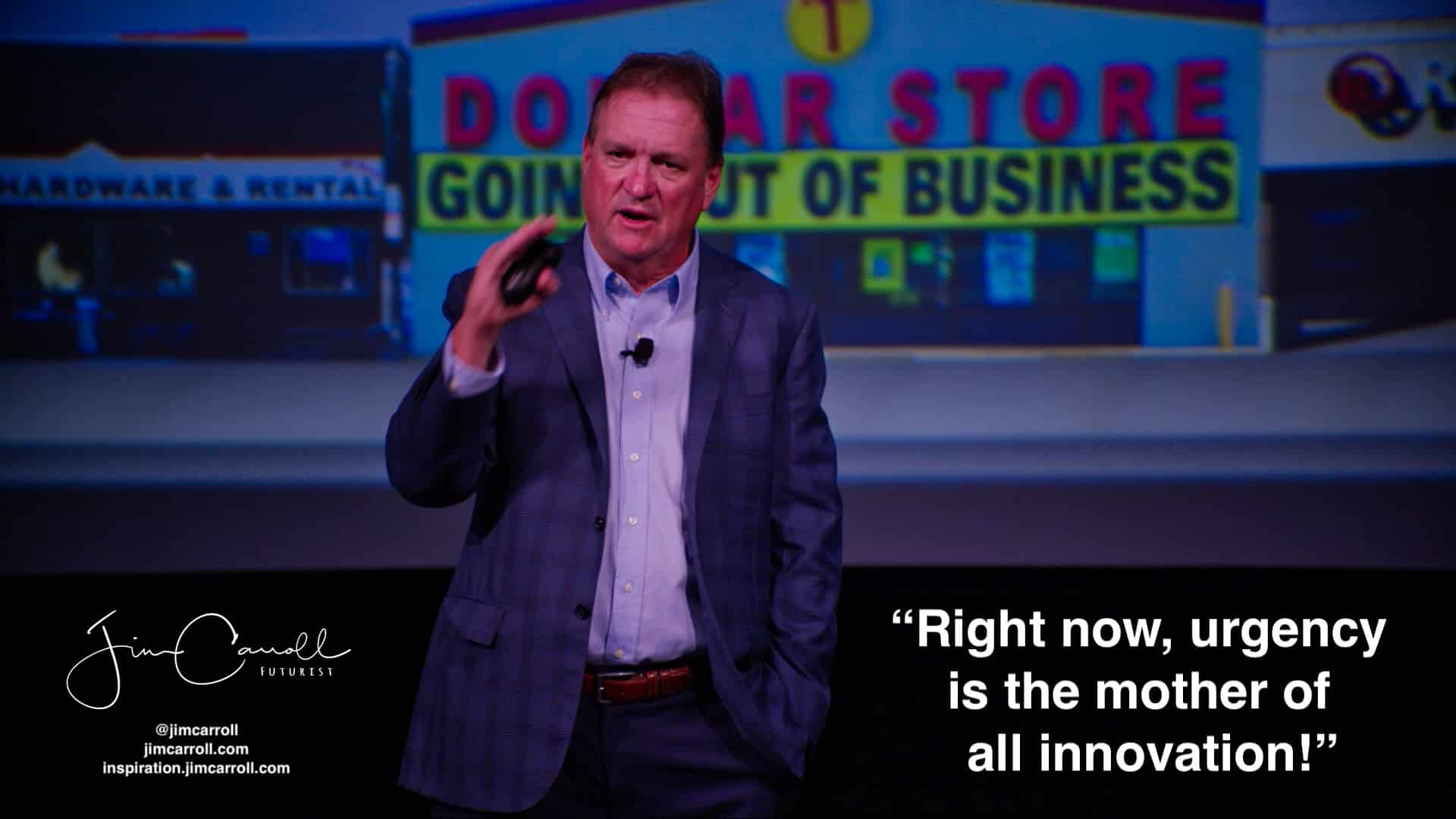 "Daily Inspiration: ""Right now, urgency is the mother of all innovation!"""
