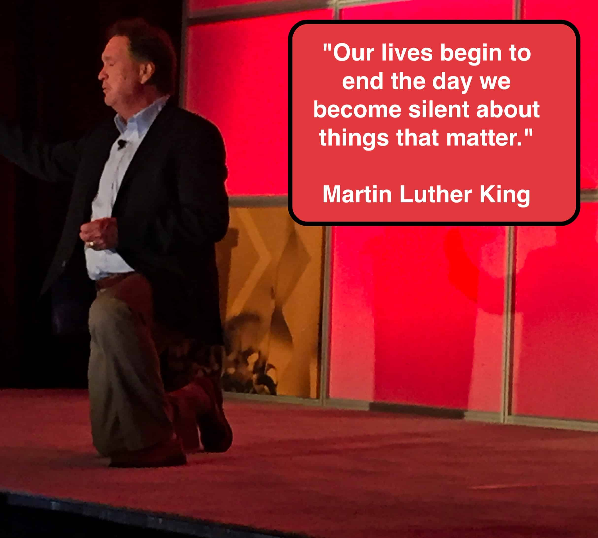 "Daily Inspiration: ""Our lives begin to end the day we become silent about things that matter - MLK"""