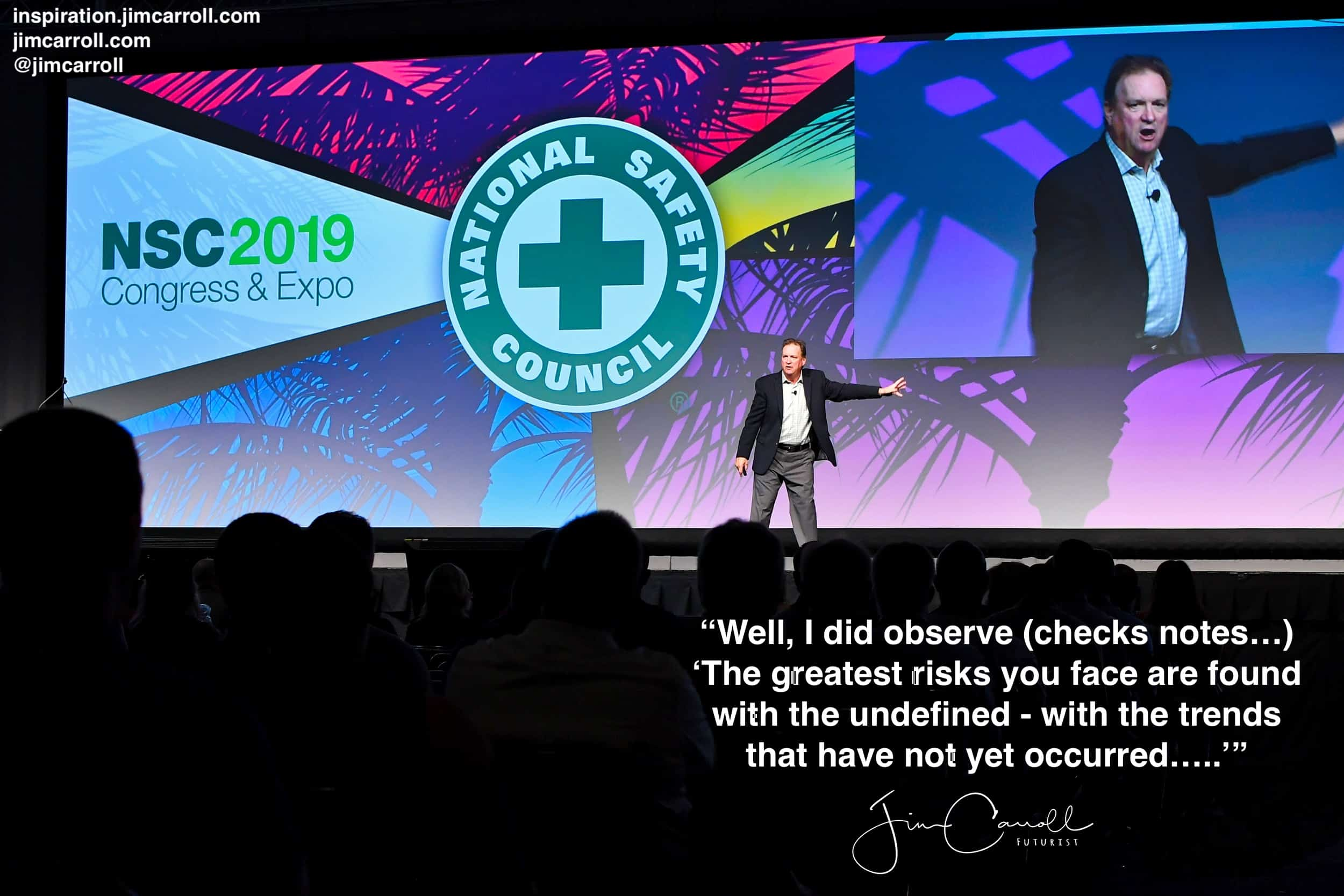 "Daily Inspiration: ""Well, I did observe (checks notes…) 'The greatest risks you face are found with the undefined...'"""