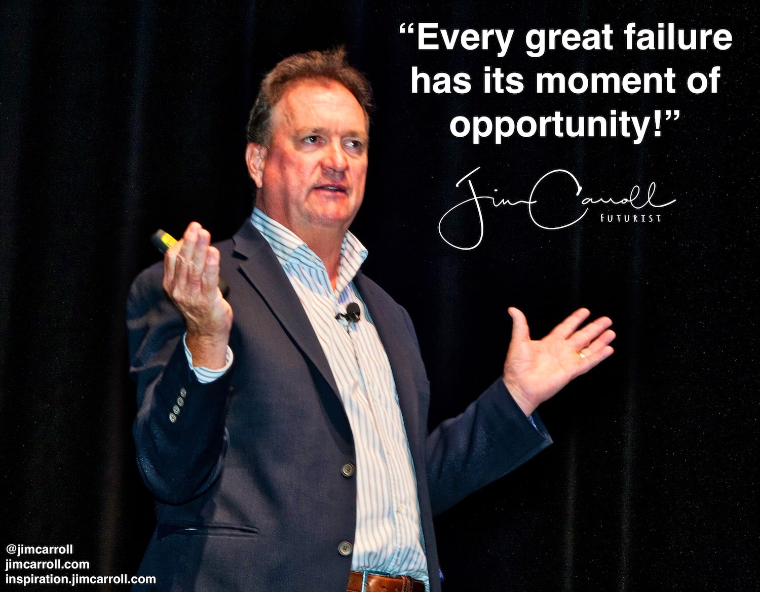 "Daily Inspiration: ""Every great failure  has its moment of opportunity!"""