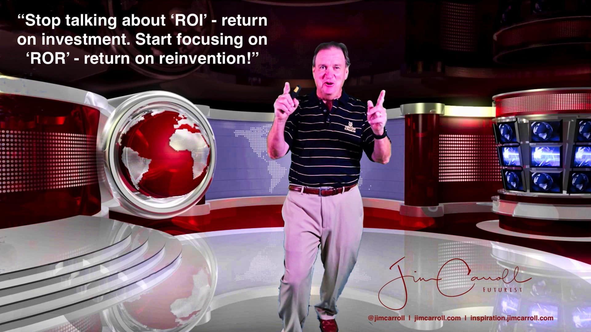 "Daily Inspiration: ""Stop talking about 'ROI' - return on investment. Start focusing on 'ROR' - return on reinvention!"""
