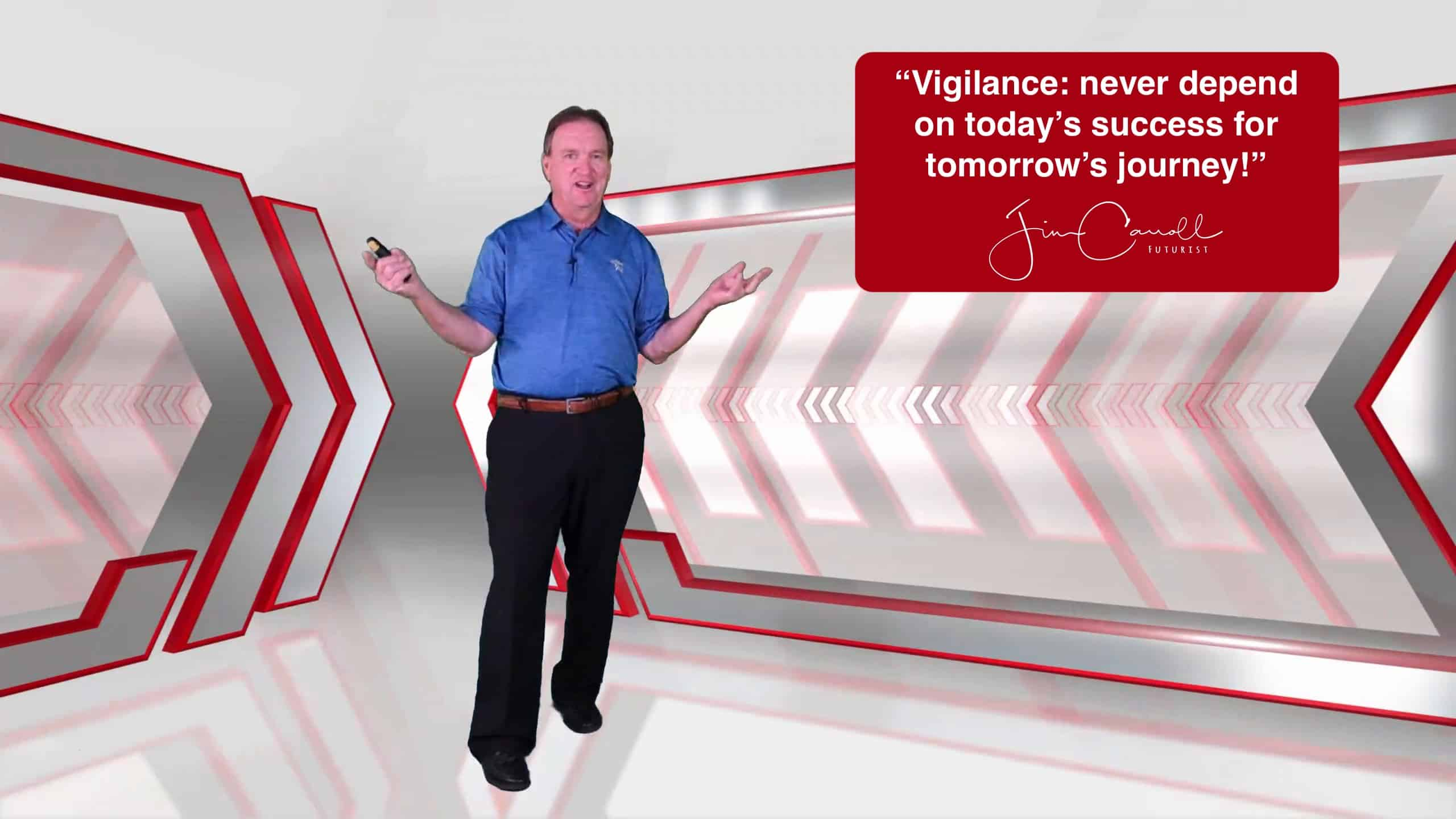 "Daily Inspiration: ""Vigilance: never depend on today's success for tomorrow's journey!"""