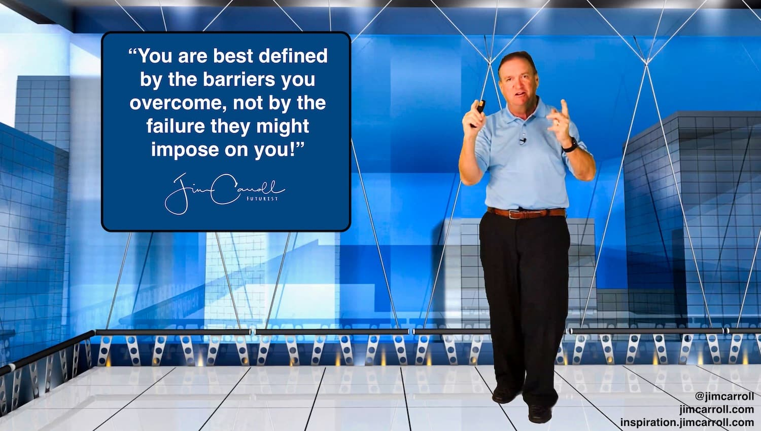 """Daily Inspiration: """"You are best defined by the barriers you overcome, not by the failure they might impose on you!"""""""
