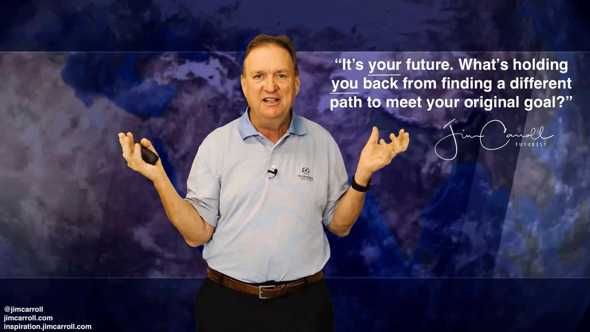 """Daily Inspiration: """"It's your future. What's holding you back from finding a different path to meet your original goal?"""""""